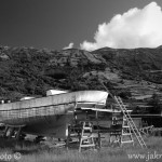 Azory Pico loď na suchu