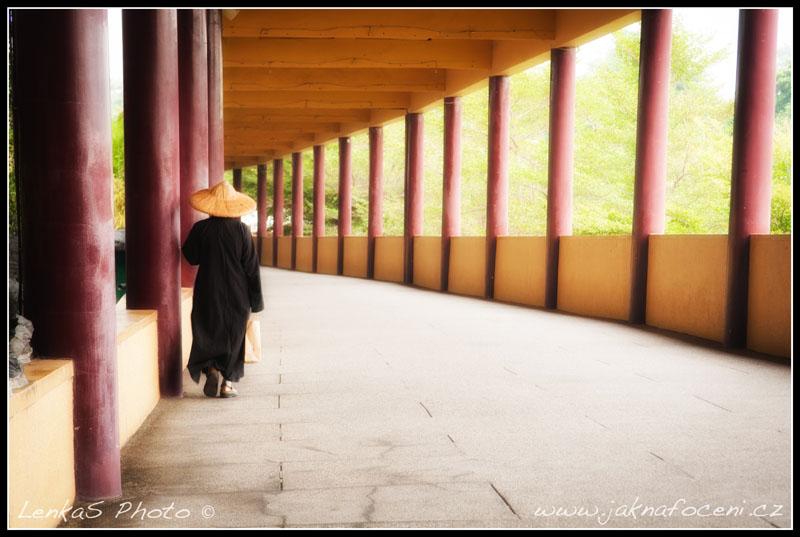 Taiwanský mnich po úpravě v počítači