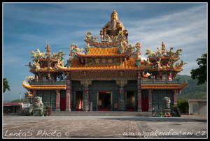 Chrám - jižní Taiwan