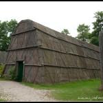 Dlouhý dům skanzen Indiánů Huron