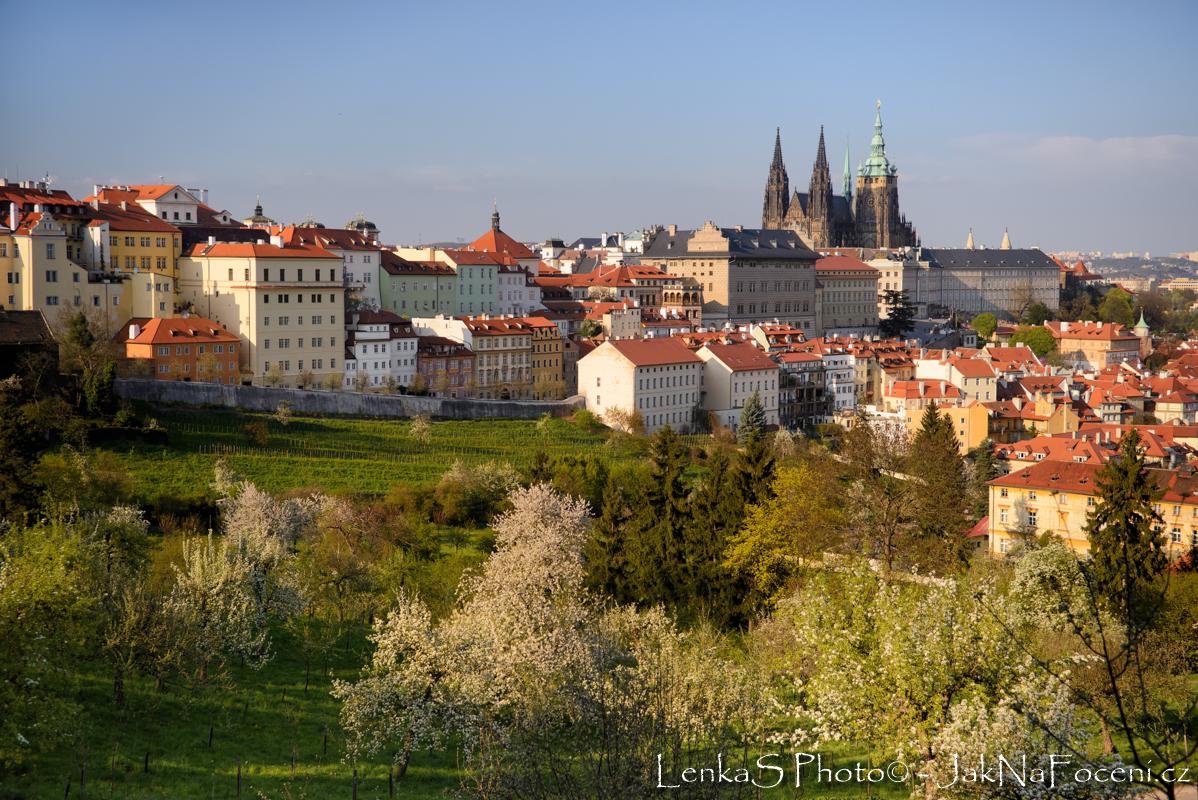 Praha - Petřín ve zlaté hodin