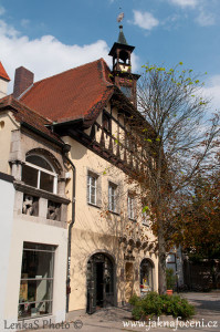 Hrázděný dům v Regensburgu