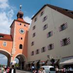 Regensburg směrem k mostu