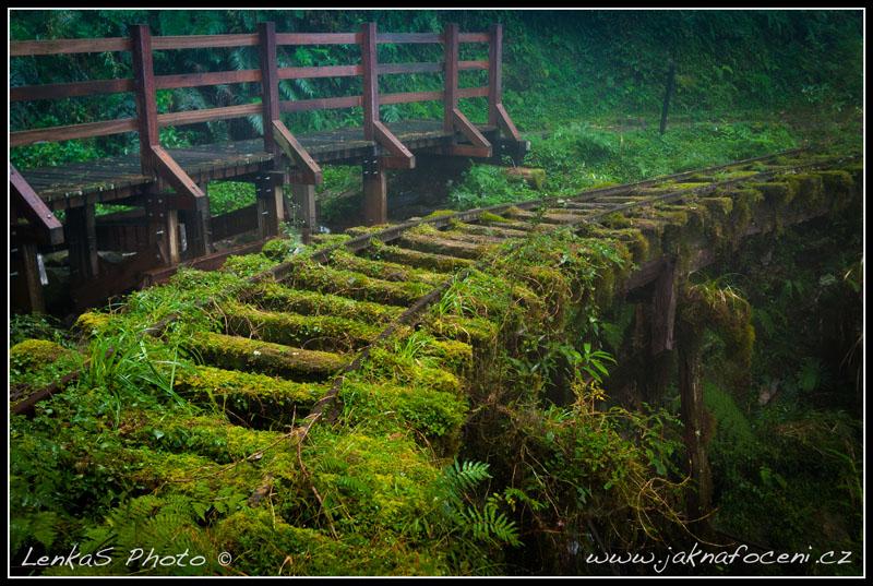 Taipingshan - opuštěná železnice