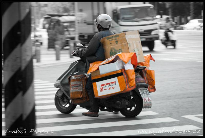 Taiwan - poštovní skútr