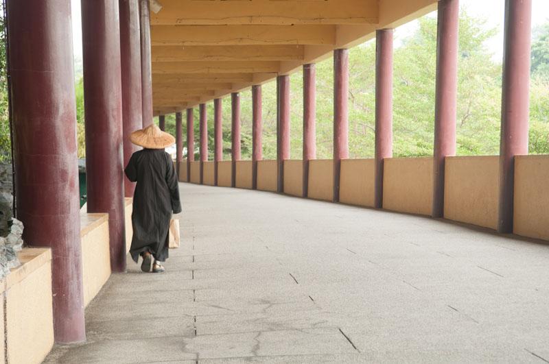 Taiwanský mnich před úpravou v počítači