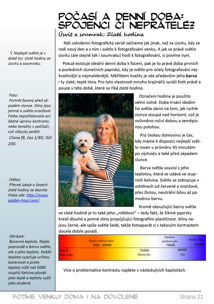 Jak fotit kurz ukázka e-kniha