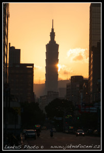 Východ slunce nad Taipei