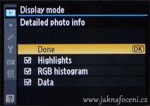Display menu zrcadlovka