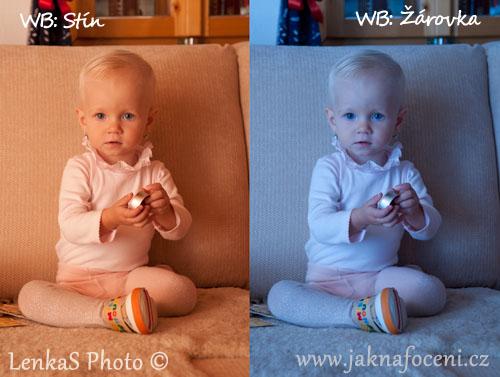 Fotografie dětí a použití WB