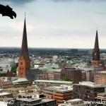 Hamburk z výšky