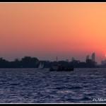 Jezero Ontario západ slunce