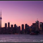 Toronto večerní panorama