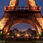 Noční Eiffelovka ze stativu